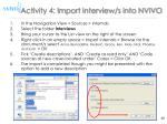 activity 4 import interview s into nvivo