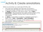activity 8 create annotations