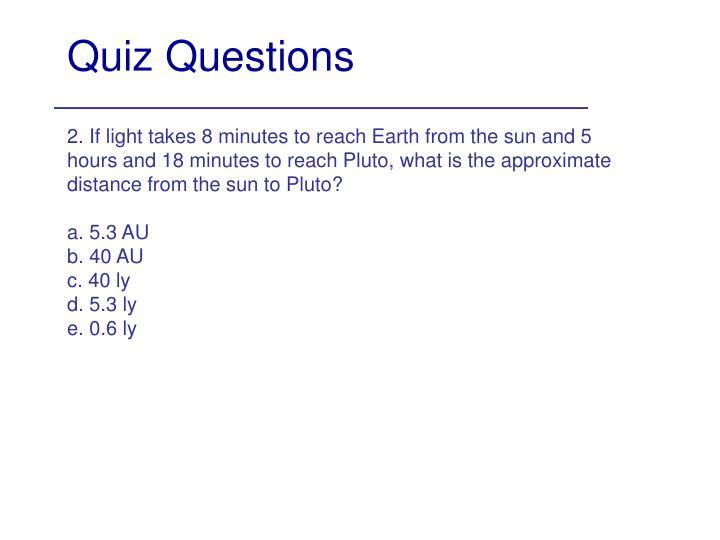 Quiz questions1
