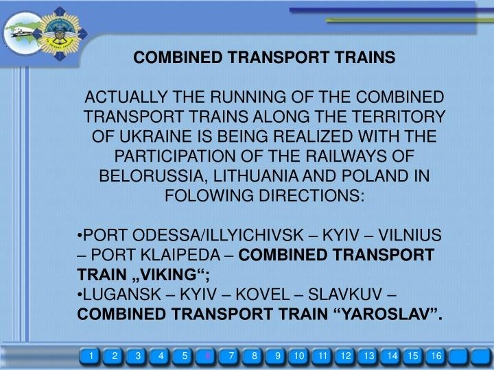 COMBINED TRANSPORT TRAINS