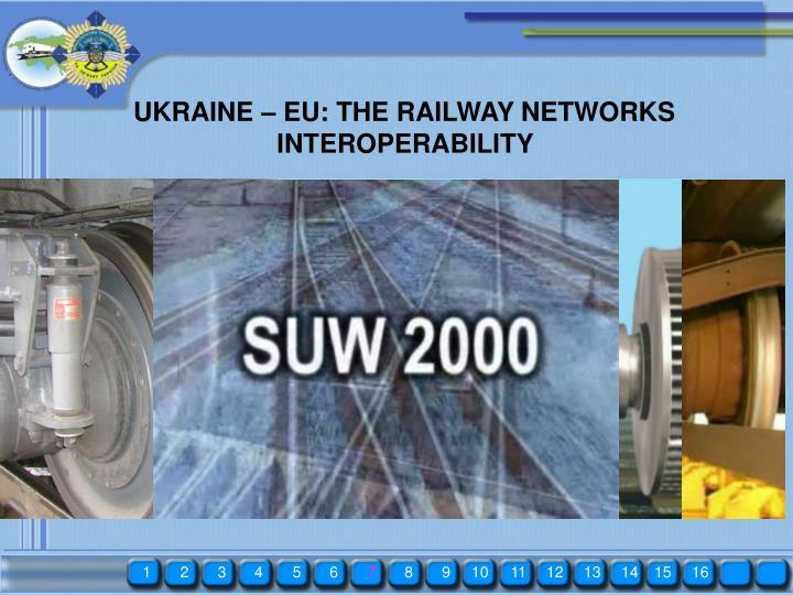 UKRAINE – EU: THE RAILWAY NETWORKS