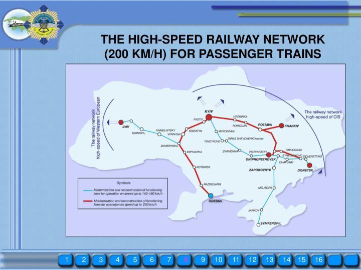 THE HIGH-SPEED RAILWAY NETWORK