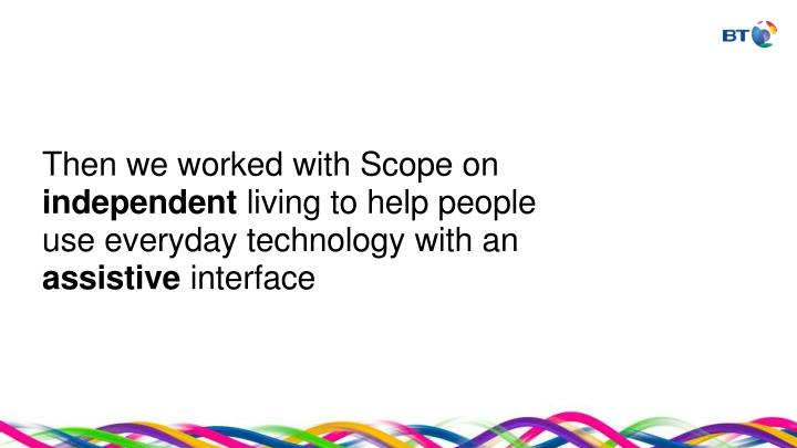 Then we worked with Scope on