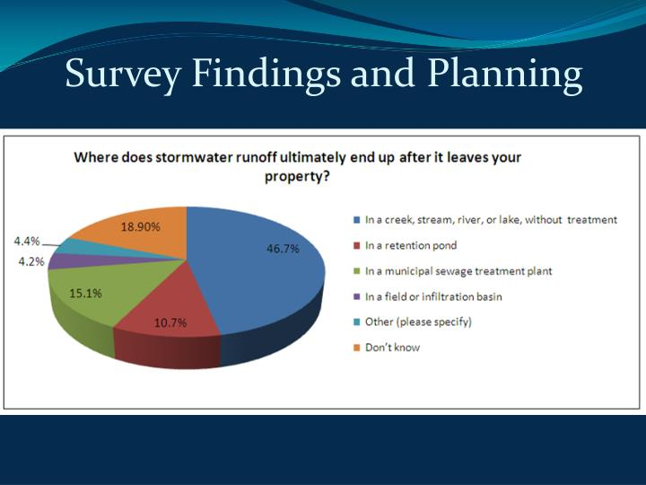Survey Findings and Planning