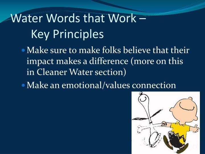 Water Words that Work – Key Principles