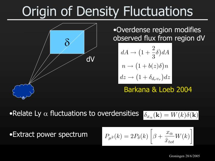 Origin of Density Fluctuations