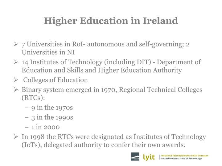Higher education in ireland