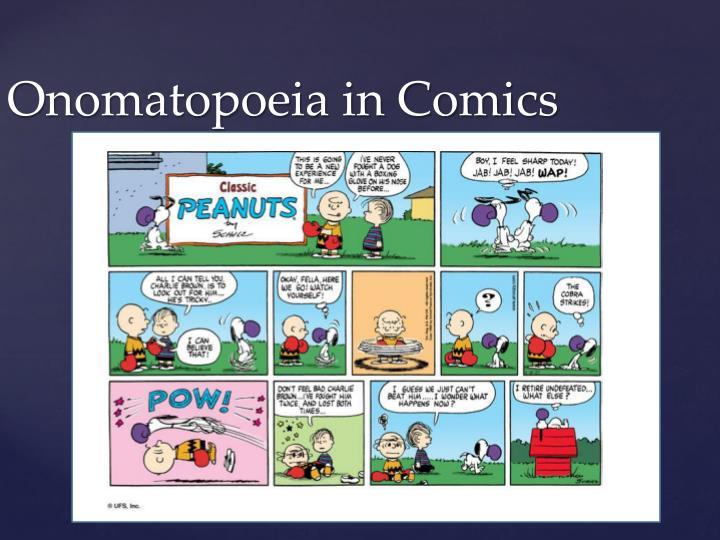 Onomatopoeia in Comics