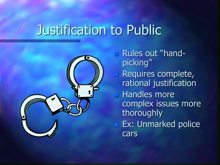 Justification to Public