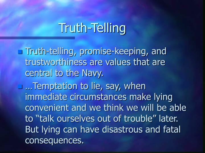 Truth telling1