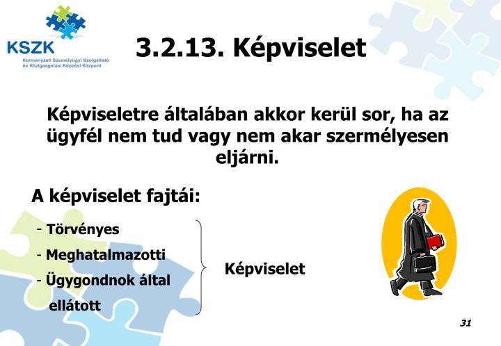 3.2.13. Képviselet