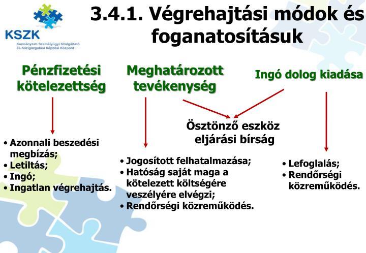 3.4.1. Végrehajtási módok és foganatosításuk