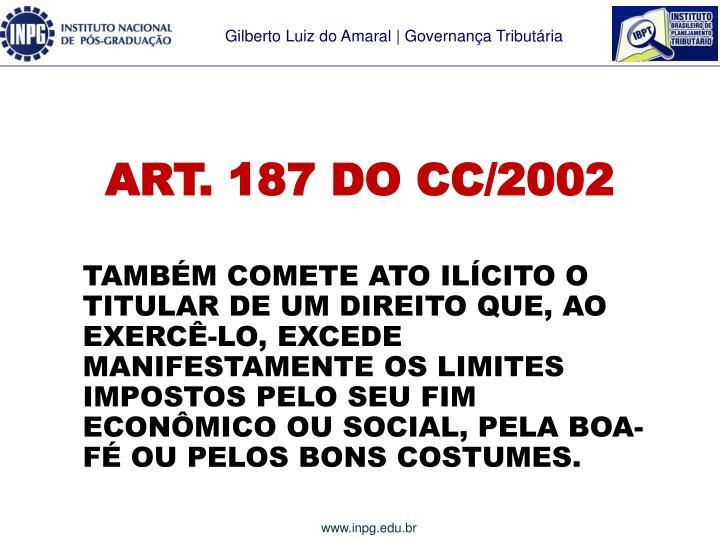 ART. 187 DO CC/2002
