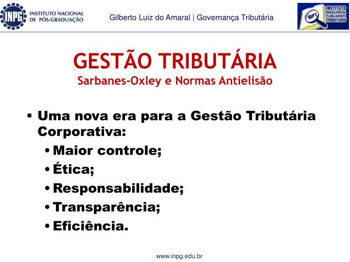 GESTÃO TRIBUTÁRIA