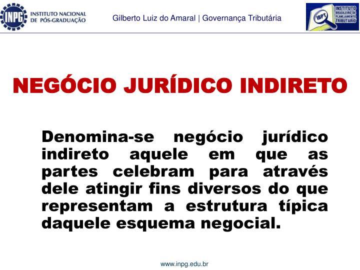 NEGÓCIO JURÍDICO INDIRETO