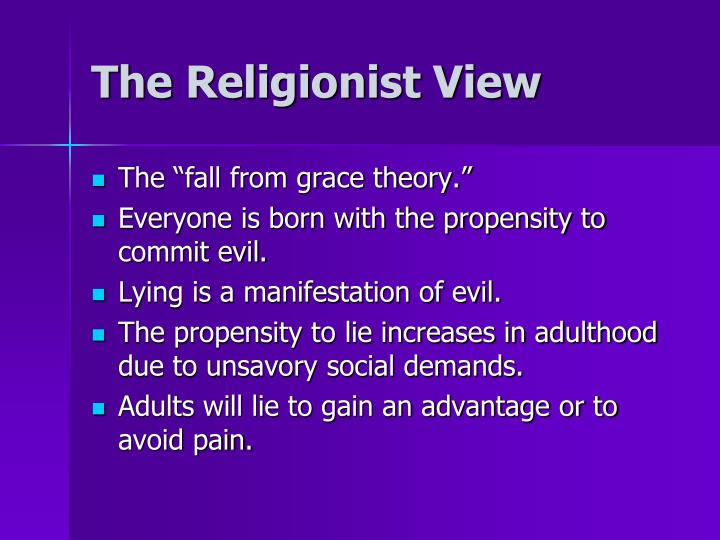 The Religionist View