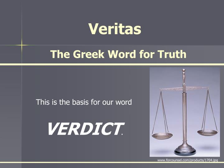 The Greek Word for Truth