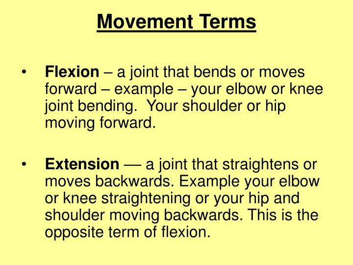 Movement Terms
