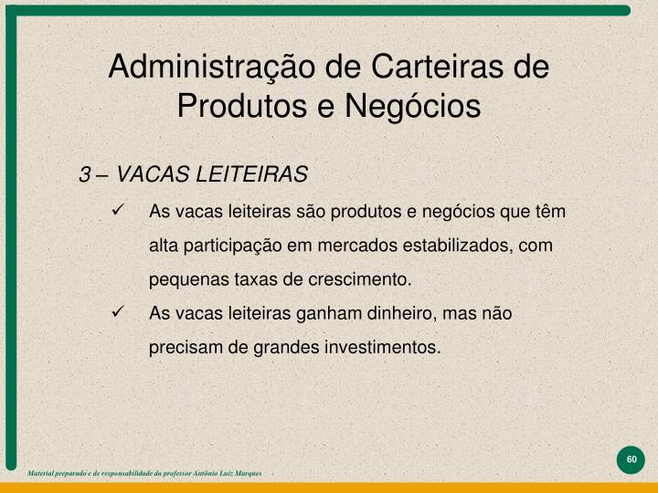 Administração de Carteiras de Produtos e Negócios