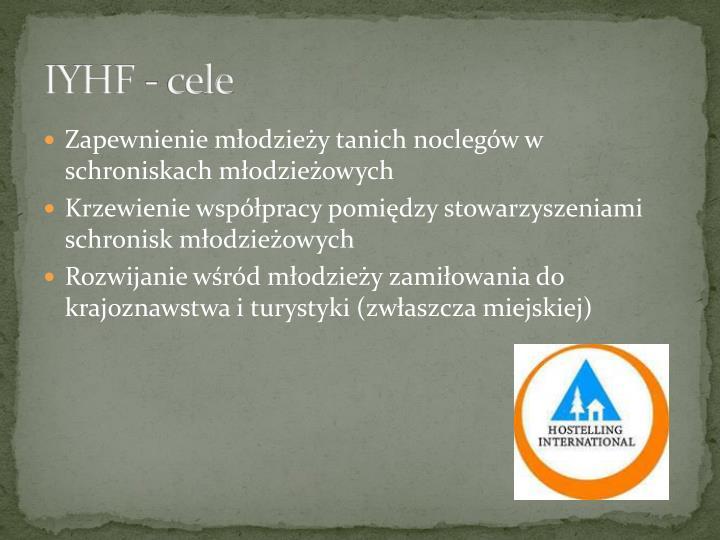 IYHF - cele