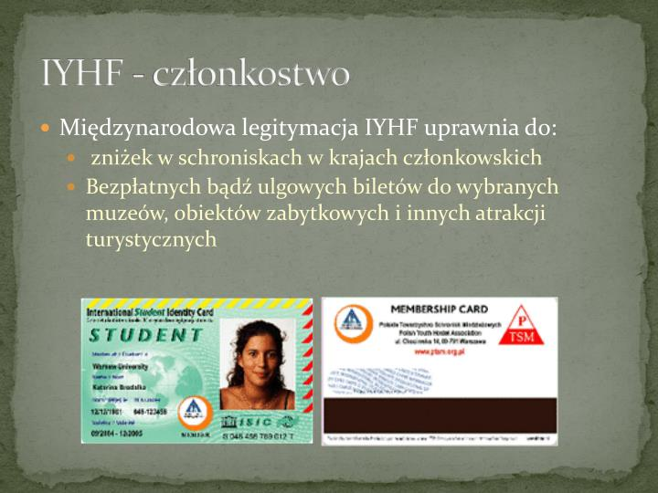 IYHF - członkostwo