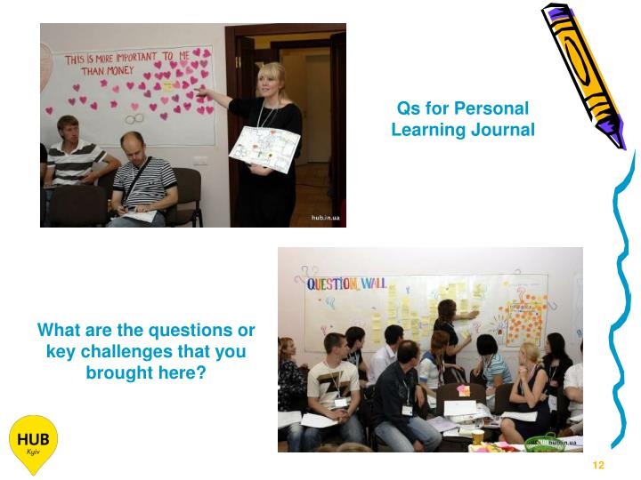 Qs for Personal Learning Journal