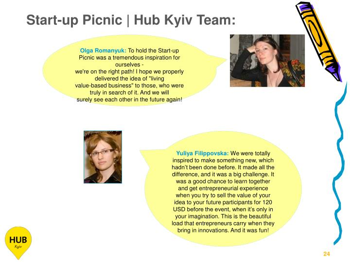 Start-up Picnic | Hub Kyiv Team:
