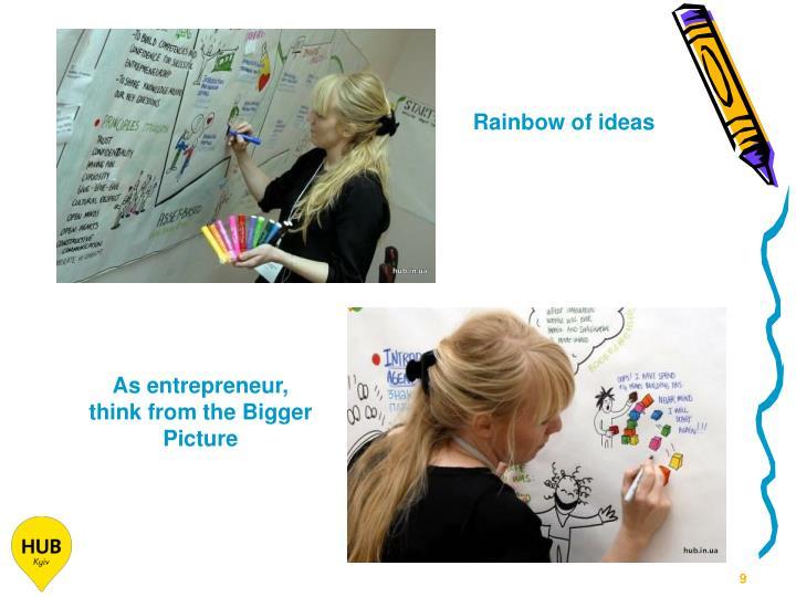 Rainbow of ideas