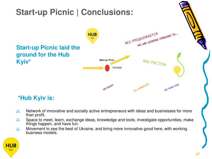 Start-up Picnic | Conclusions: