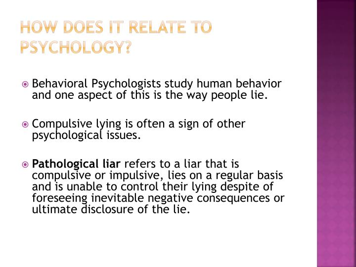 How does it relate to Psychology?
