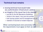 technical trust remains