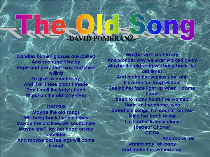 The Old Song