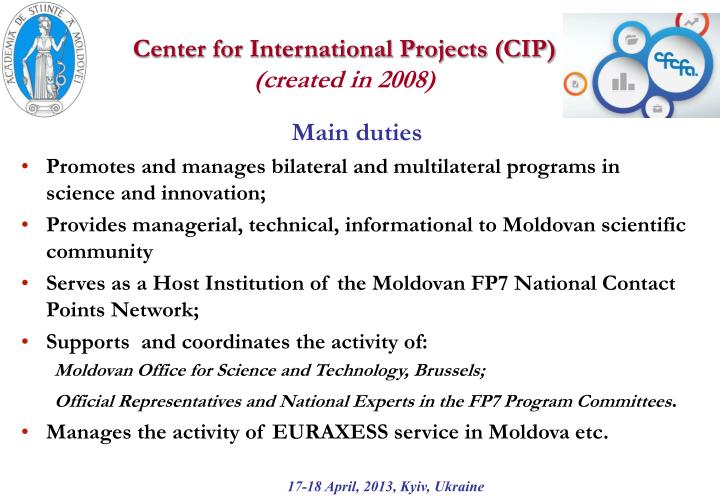 Center for International Projects (CIP)