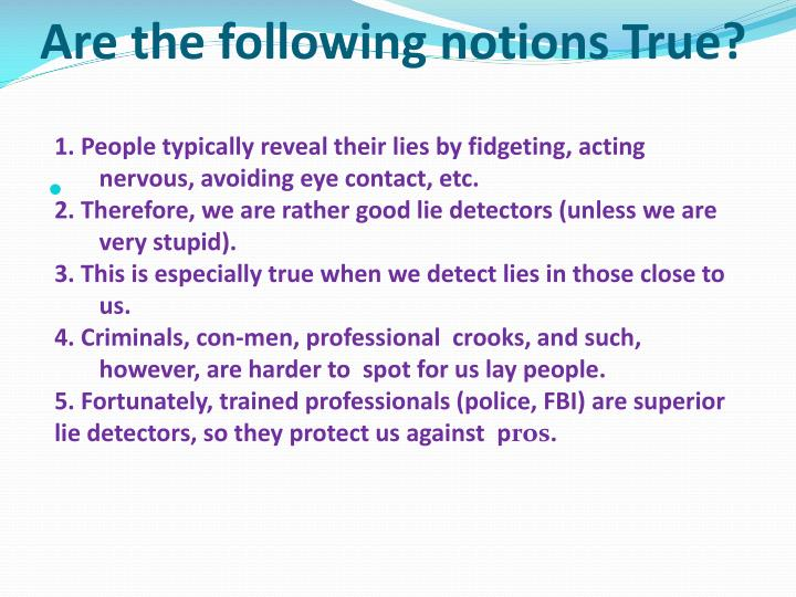 Are the following notions True?