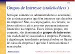 grupos de interesse stakeholders