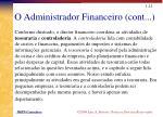 o administrador financeiro cont