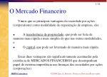 o mercado financeiro