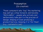 prosumption co creation