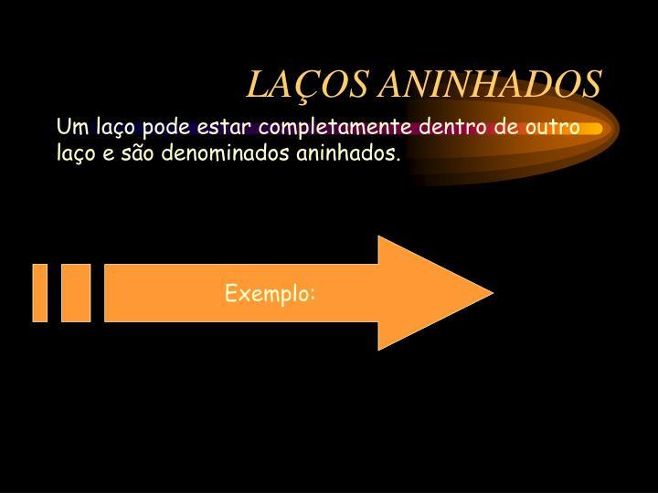 LAÇOS ANINHADOS