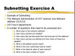 subnetting exercise a