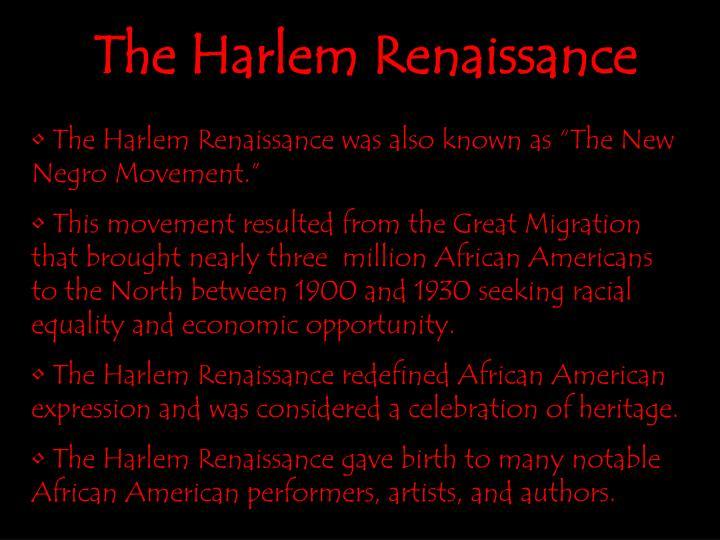 The harlem renaissance1