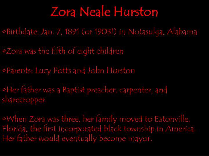 Birthdate: Jan. 7, 1891 (or 1903!) in Notasulga, Alabama