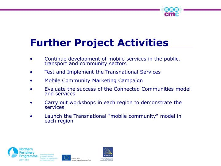 Further Project Activities