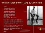 this little light of mine sung by sam cooke