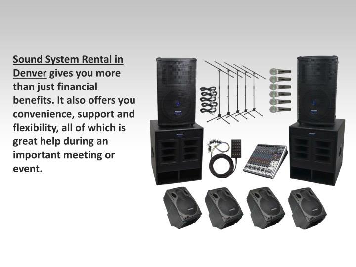 Sound System Rental in Denver