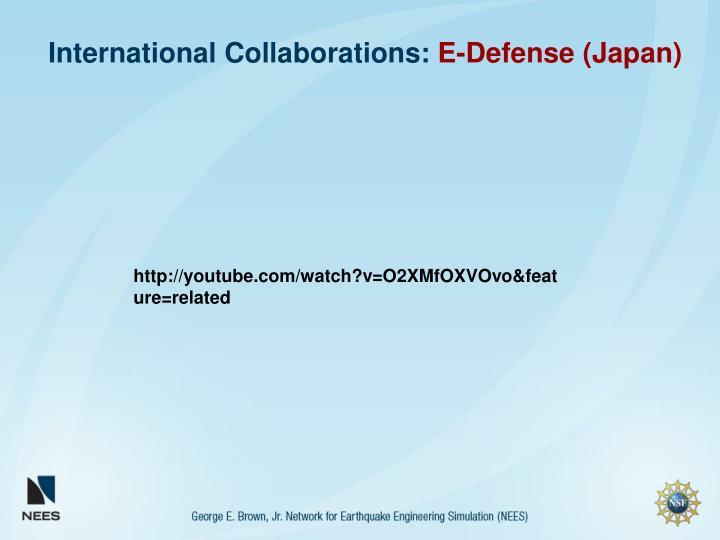 International Collaborations: