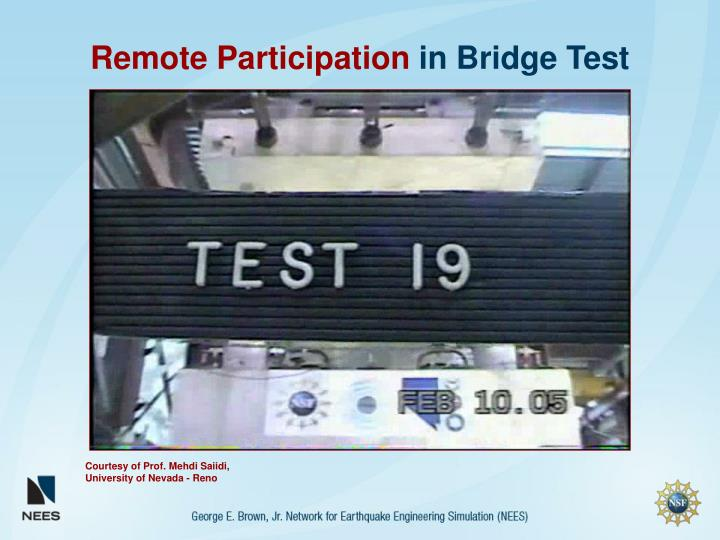 Remote Participation