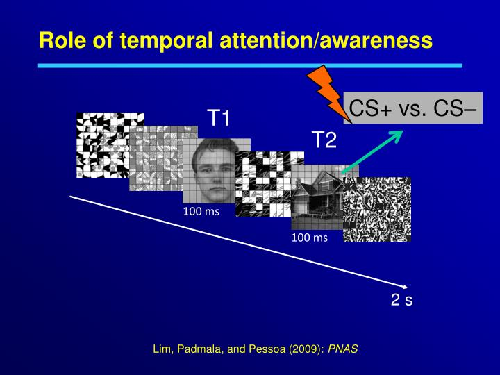 Role of temporal attention/awareness