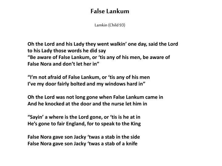 False Lankum
