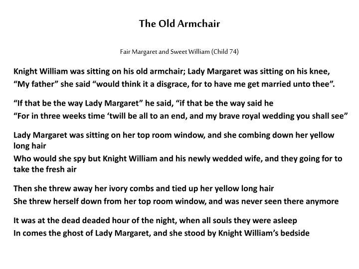 Fair Margaret and Sweet William (Child 74)